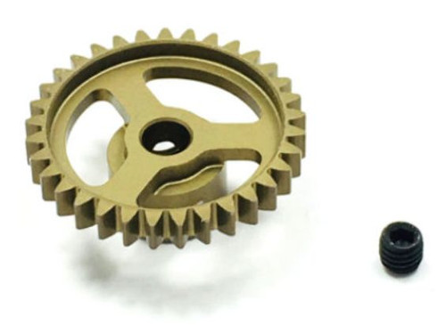 Trinity TEP4033 Ultra Lightweight Aluminum Pinion Gear, Thin, 48 Pitch,