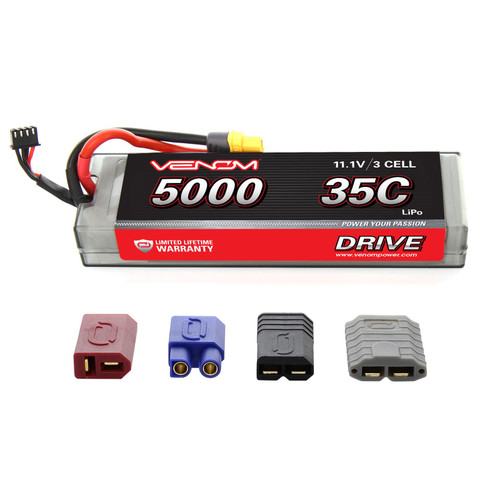 Venom Racing 15128 DRIVE 35C 3S 5000mAh 11.1V LiPo Hardcase Battery with UNI