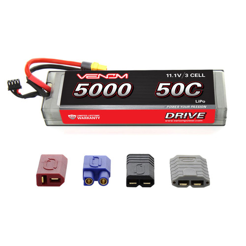 Venom Racing 15129 DRIVE 50C 3S 5000mAh 11.1V LiPo Hardcase Battery with UNI
