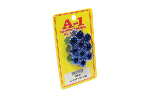 A-1 Products 81804 #4 AN Aluminum Tube Nut 10pk