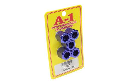 A-1 Products 81806 #6 AN Aluminum Tube Nut 5pk