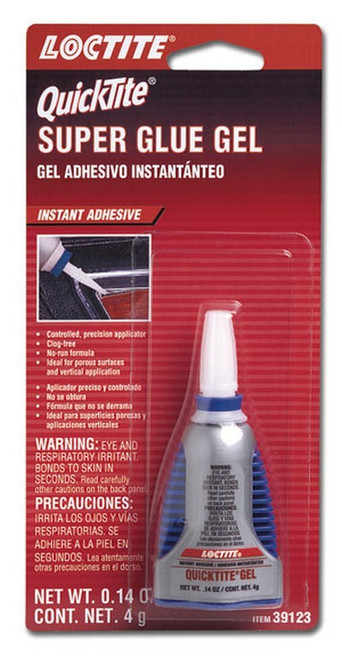 Loctite 636095 Quicktite Super Glue Gel 4g/.14oz