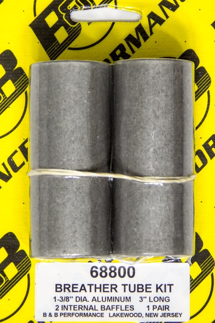 B And B Performance Products 68800 Breather Tube Kit - Alum. 3in Long (Pair)