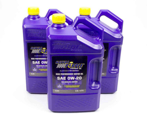 Royal Purple 53020 0w20 Multi-Grade SAE Oil 3x5qt Bottles