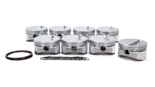 Sportsman Racing Products 231308 SBC Flat Top Piston Set 4.125 Bore -5cc