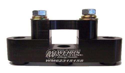 Wehrs Machine WM6231515S Panhard Mount 1.5 x 1.5 3 Hole Steel