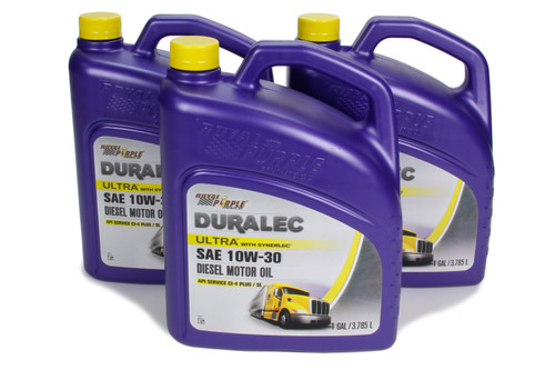 Royal Purple 80456 Duralec Ultra 10W30 Oil Case 3 x 1 Gallon