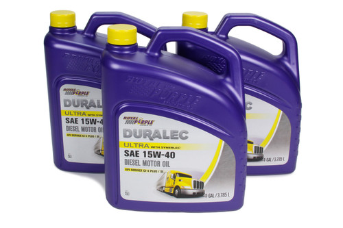 Royal Purple 80561 Duralec Ultra 15W40 Oil Case 3 x 1 Gallon