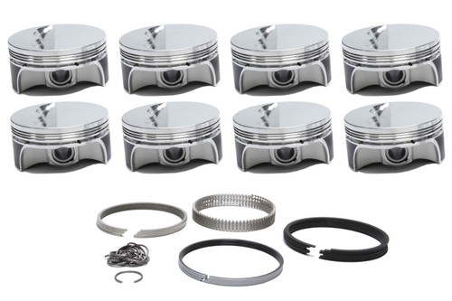 Sportsman Racing Products 279480 SBC Flat Top Pro-Series Piston & Ring Set 4.040
