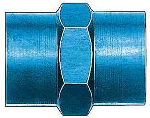 Aeroquip FCM2129 1/8in Alum Pipe Coupler