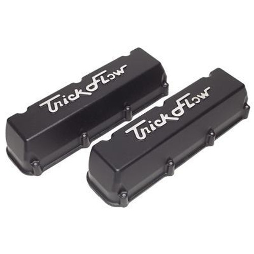 Trick Flow TFS-53411802 BBF Tall Cast Aluminum Valve Covers Black Finis