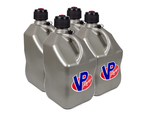 Vp Fuel Containers 3604 Utility Jug 5 Gal Silver Square (Case 4)