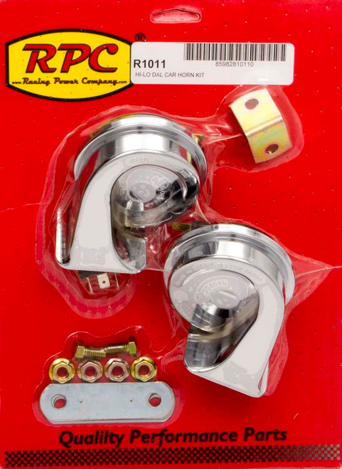 Racing Power Co-Packaged R1011 Chrome Hi-Lo Car Horn