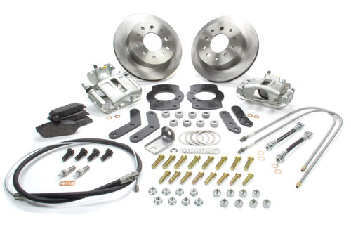 Stainless Steel Brakes A125-F Rear Disc Brake Conv Kit 68-81 Firebird