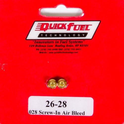 Quick Fuel Technology 26-80 Air Bleeds - 10/32 .080
