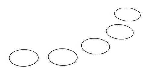 Re Play 20-PRIMEX-ORING-LBRC5 Replay PrimeX Lens Bezel & Rear Cap O-Ring 5 Pack