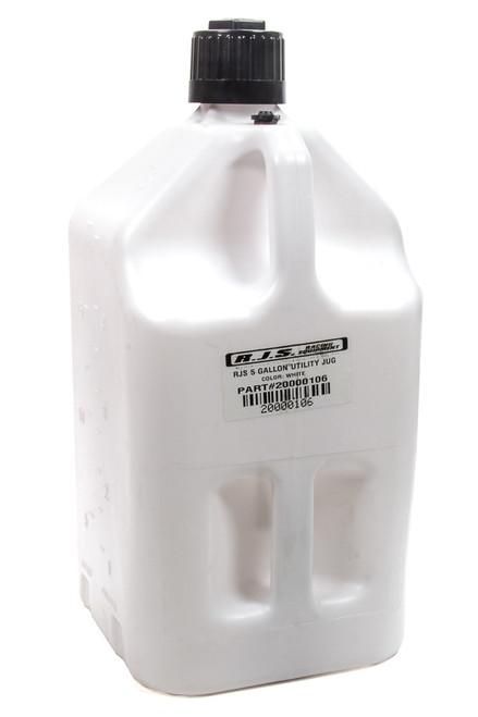 Rjs Safety 20000106 Utility Jug 5 Gallon White