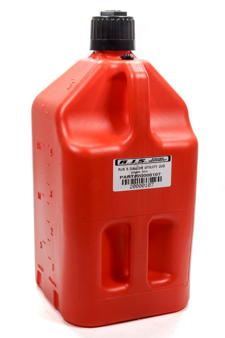 Rjs Safety 20000107 Utility Jug 5 Gallon Red