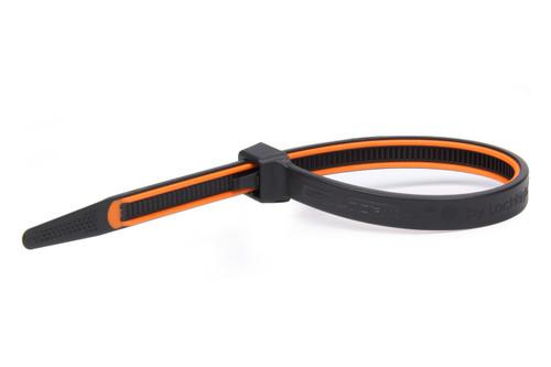 Grip Lock Ties 2908BKOGHB100 GripLockTies 8.0in OAL Orange Rubber 100pk