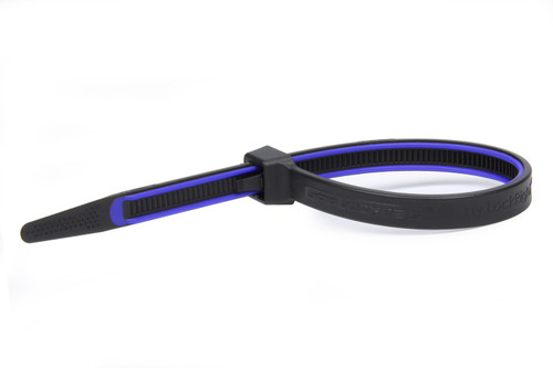 Grip Lock Ties 2912BKBUHB100 GripLockTies 12.35in OAL Blue Rubber 100pk