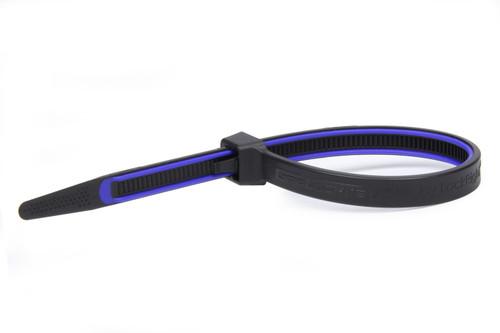 Grip Lock Ties 2912BKBUHB15 GripLockTies 12.35in OAL Blue Rubber 15pk