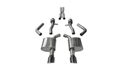 Corsa Performance 14995BLK Exhaust Cat-Back - 2.75 in Dual Rear Exit