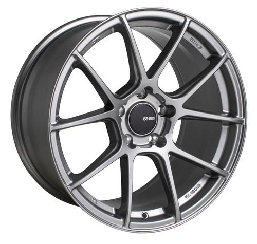 Enkei 522-895-6538GR TS-V Storm Grey Tuning Wheel 18x9.5 5x114.3 38mm Offset 72.6mm Bore