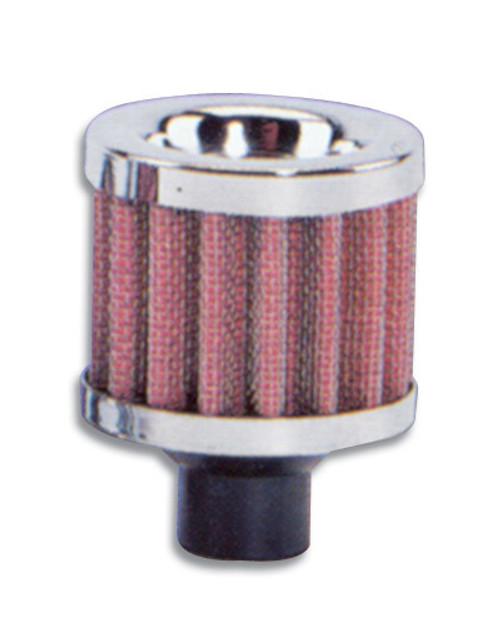 Vibrant Performance 2164 Crankcase Breather Filte r W/ Chrome Cap - 3/4In