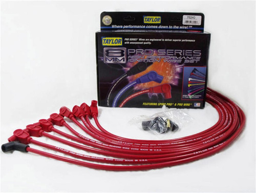 Taylor/Vertex 76240 SBC 8MM Pro Race Wires- Red