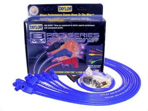 Taylor/Vertex 76630 Race-Fit Spiro-Pro Plug Wire Blue SBC HEI