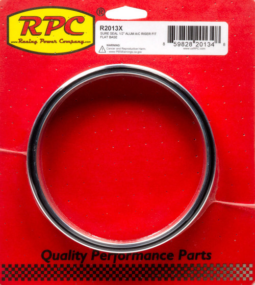 Racing Power Co-Packaged R2013X Sure Seal 1/2In Alum A/ C Riser Fit Flat Base