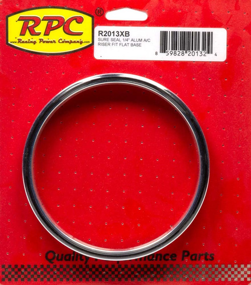 Racing Power Co-Packaged R2013XB Sure Seal 1/4In Alum A/C Riser Fit Flat Base