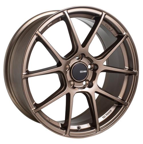 Enkei 522-895-6538ZP TS-V Matte Bronze Tuning Wheel 18x9.5 5x114.3 38mm Offset 72.6mm Bore