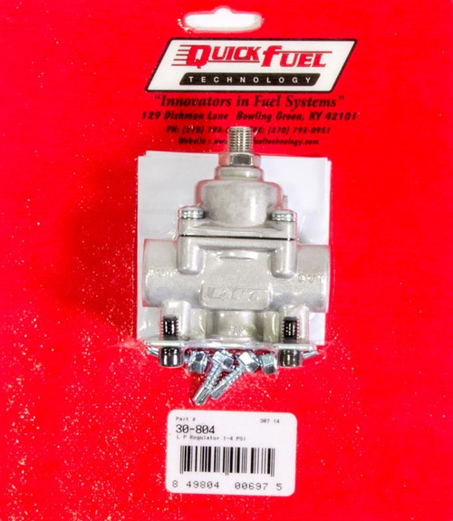 Quick Fuel Technology 30-804 Fuel Pressure Regulator - 1-4psi