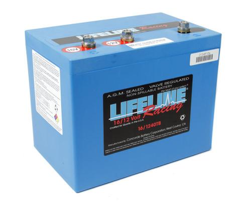 Lifeline Battery 16/1240TB 16 Volt 3 Post Battery