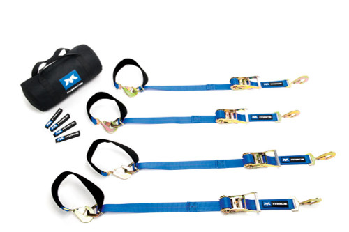Macs Custom Tie-Downs 511108 4 Tie Down/Axle Strap Combo Twisted Hook