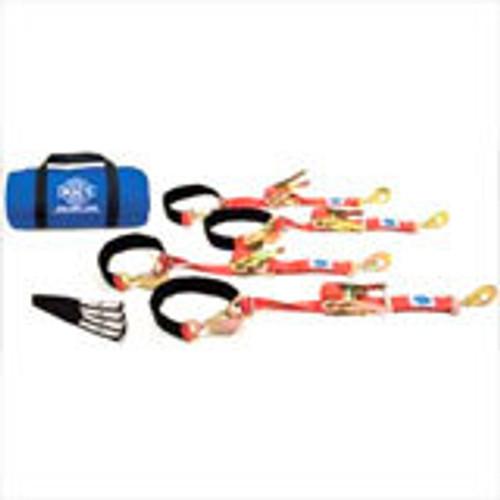Macs Custom Tie-Downs 511118 4 Tie Down/Axle Strap Combo Direct Hook