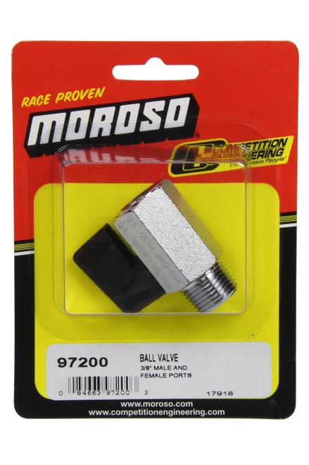 Moroso 97200 Ball Valve 3/8npt Male to 3/8npt Female