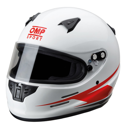Omp Racing, Inc. SC791E-L Sport OS 70 Helmet White Large SA2015