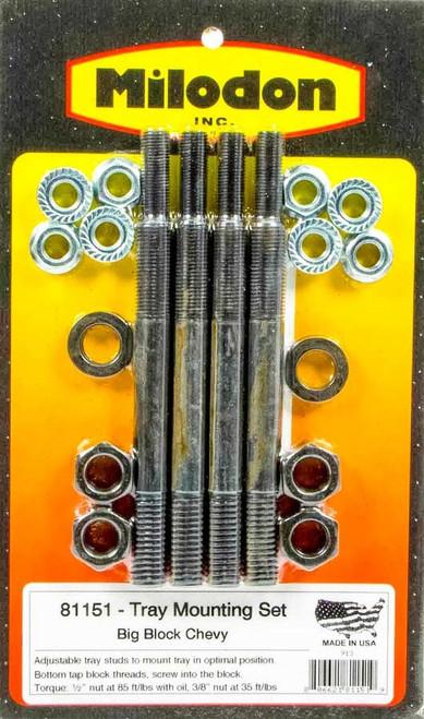 Milodon 81151 Bbc Tray Install Kit