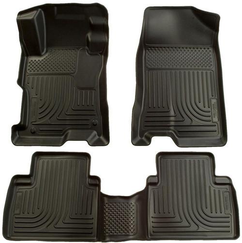 Husky Liners 98411 06-11 Honda Civic Front/ 2nd Floor Liners Black
