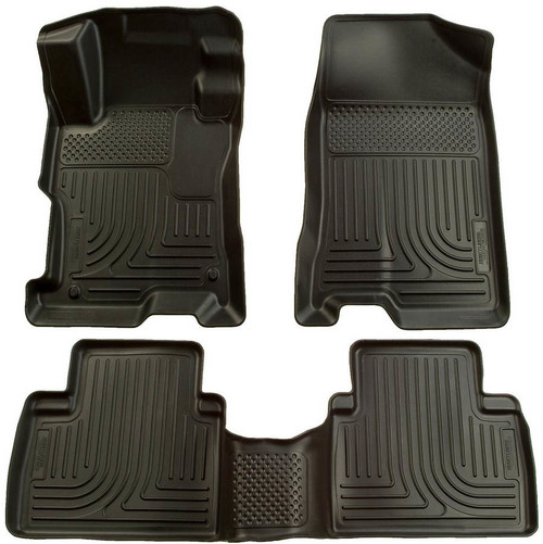 Husky Liners 98441 12-13 Honda Civic Front/ 2nd Floor Liners Black