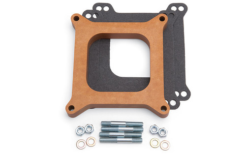 Edelbrock 8719 3/4in Carb Spacer - Wood Style