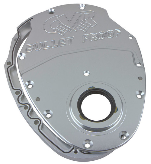 Cvr Performance TC2350CL SBC Billet Timing Cover 2-Piece - Clear Anodized