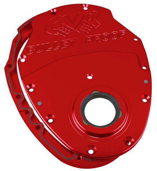 Cvr Performance TC2350R SBC Billet Timing Cover 2-Piece Red