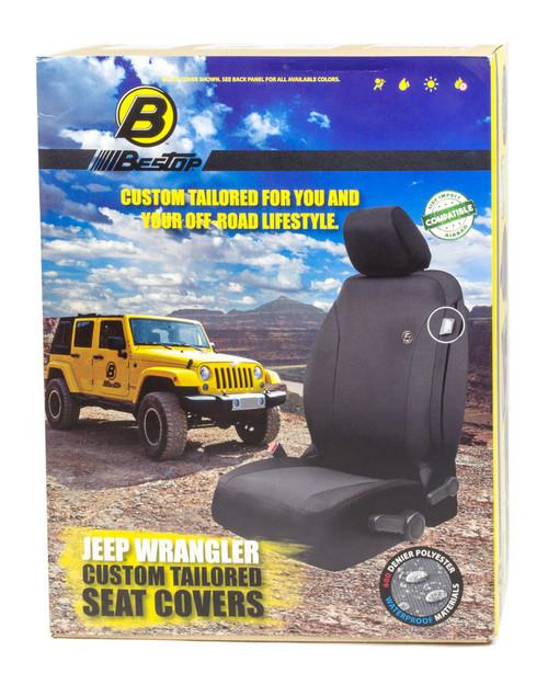 Bestop 29280-35 Seat Covers Front Black 07-12 Wrangler JK All