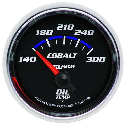Auto Meter 6148 2-1/16in C/S Oil Temp Gauge 140-300