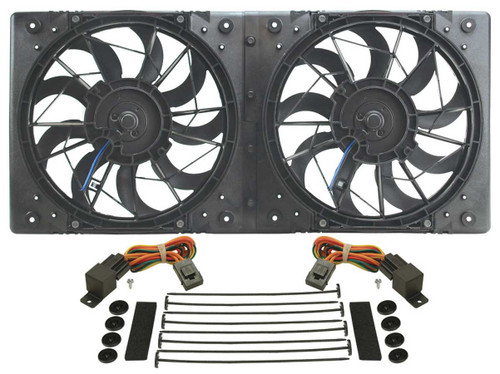 Derale 16812 10in Dual High Output RAD Fans Puller