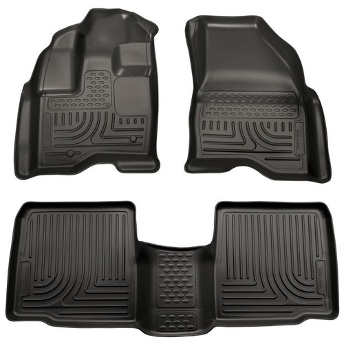 Husky Liners 98701 10-  Ford Taurus Front/ 2nd Floor Liners Black
