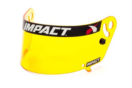 Impact Racing 12199904 Shield Amber Anti-Fog Vapor/Charger/Draft